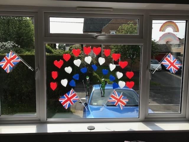 Fearne's VE day window design