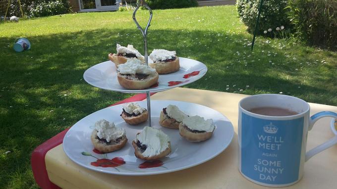 Niamh's VE Day cream tea celebration