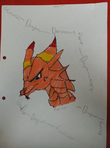 Holly has also designed a brilliant dragon!