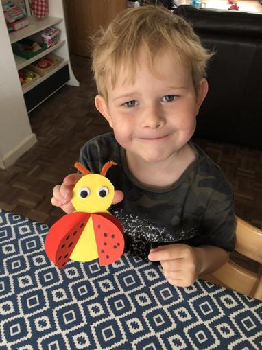 Ollie and Bradley's ladybird