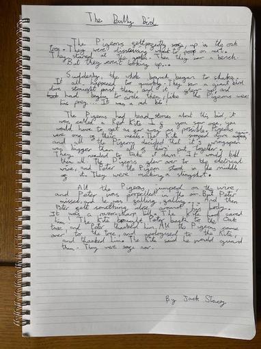 Jack's Writing - Year 4