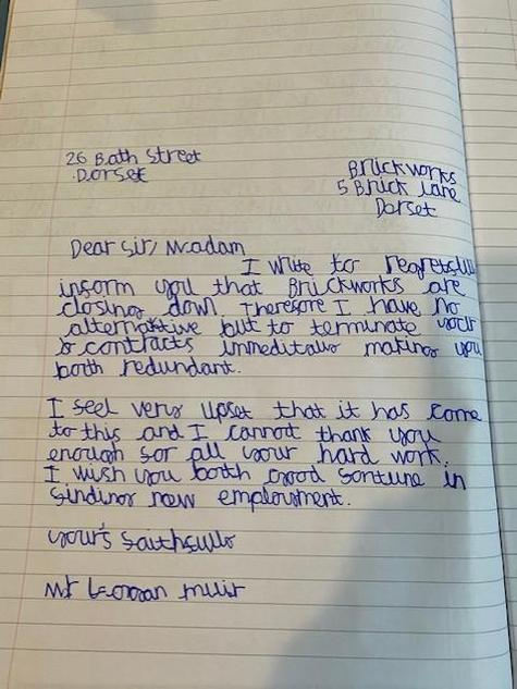 Logan English Redundancy Letter