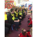 Police officers came to talk about their job.