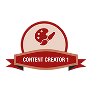 content creator badge