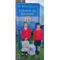 2 of our House Captains delivering food to out local food bank.