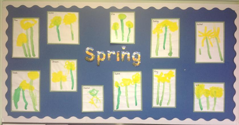 Nursery Class did some excellent observational paintings of daffodils.