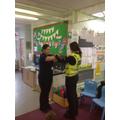 Miss Alford got hand cuffed!