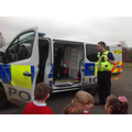 We got to look inside a real police van!