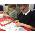 Year 3 working on Airfix models