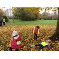 Having fun in the Autumn leaves!