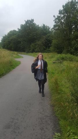 Izzy 4.5 mile jog as Hermione from Harry Potter