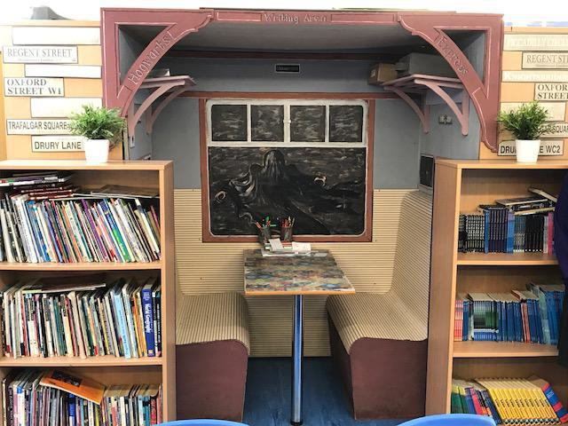 Harry Potter Train Carriage Y5/6 Writing Area