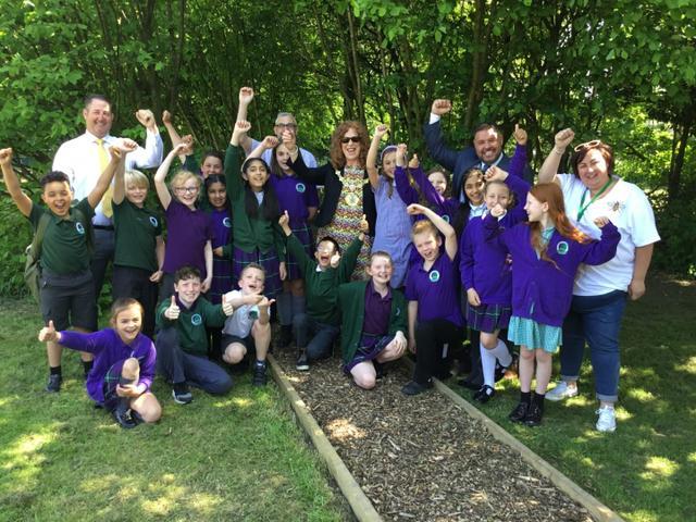 Our Mayor, Headteacher, Sponsors and Children...