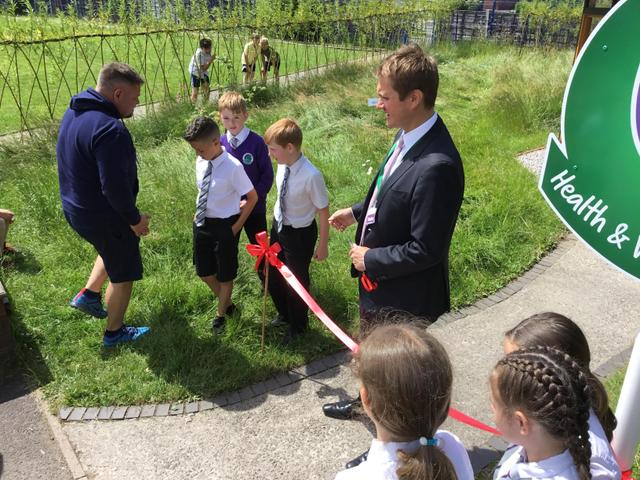 Mr J Frith MP opening our Hub...