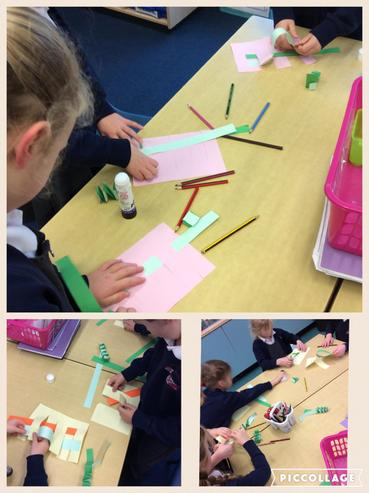 Exploring how to paper weave in Art.