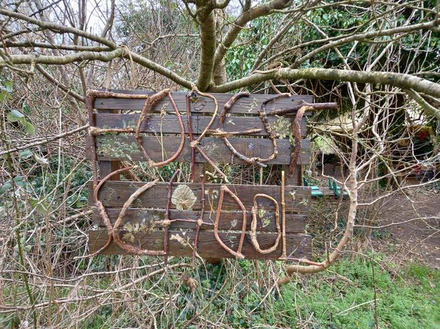 Our new Forest School Sign!