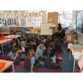 Swapping teachers and classrooms for storytime