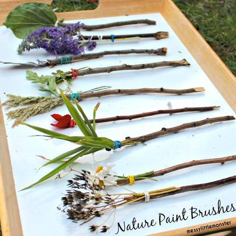 Make nature wands, as decoration, or as paint brushes!