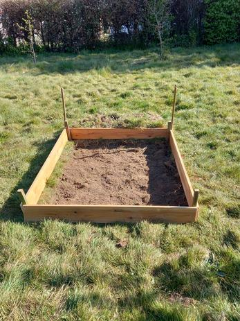and created a flower bed,