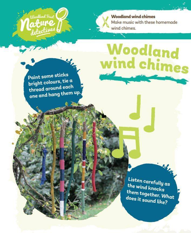 Can you create a wind chime from sticks?