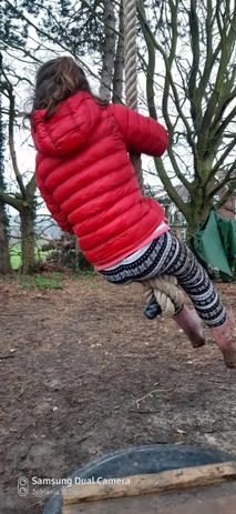 Whereas Year 3 are fully fledged squirrels and can climb ropes with ease!