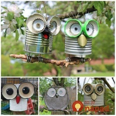 Recycled garden decorations
