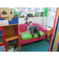 Cosy reading at Book Lounge