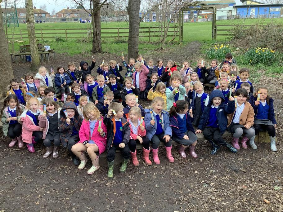 Acer and Willow class really enjoyed their Easter Egg hunt in the woods this week.
