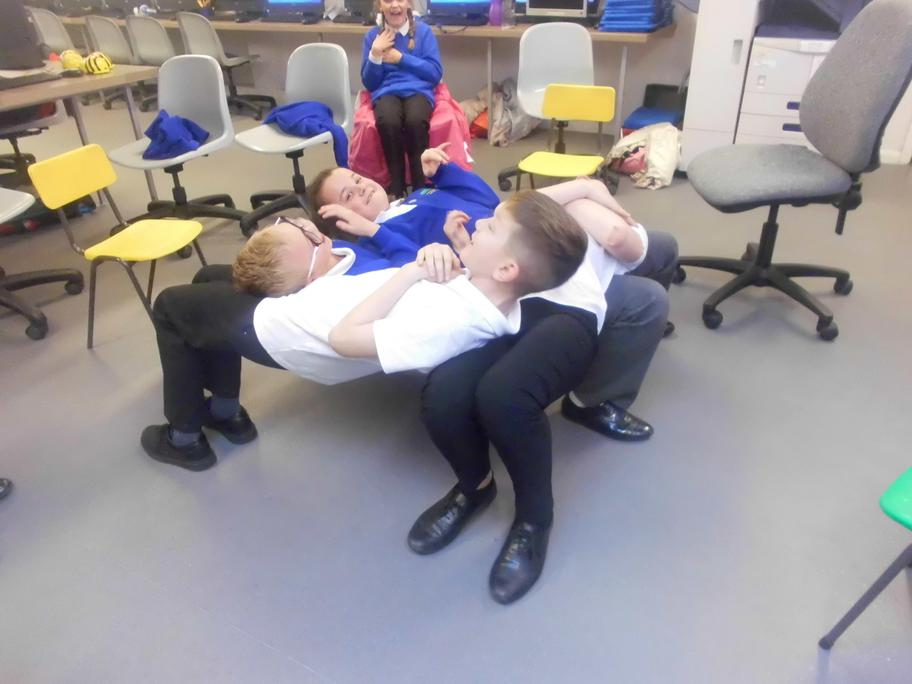 After many attempts...The Human Table!