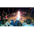 Night beach hike with songs and games by the fire