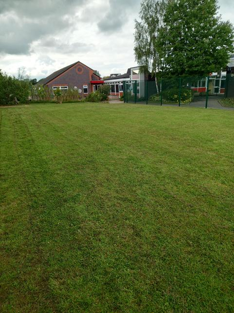 Over the summer we moved some of the security fencing to extend the garden area.