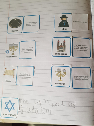 Learning about Judaism.