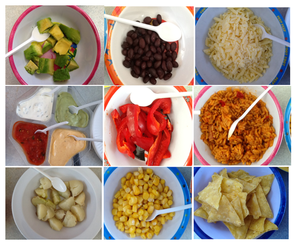 This week, as well as trying the potatoes we have grown, we tried different Mexican food