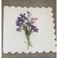 Pressing flowers to make cards