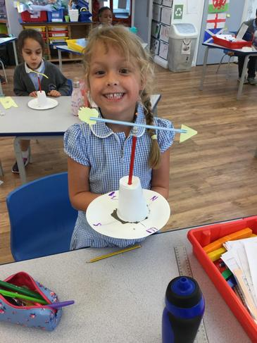 We made wind vanes this week too!