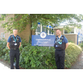 PCSO Cowles and PCSO Gibbs after today's visit to Y4, Y5 and Y6 pupils