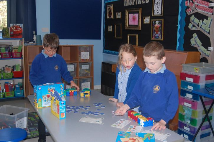 Children can choose which activities to do.
