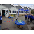 We had lots of fun with bubbles.