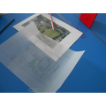Tracing a photo of the school
