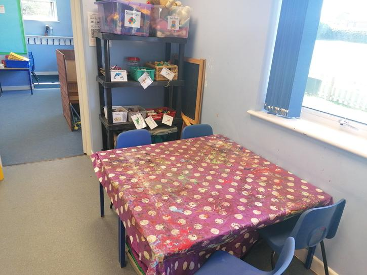 This is Coral room where we have lots of creative activities!
