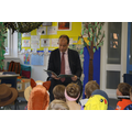 Mr Hollingbury, our MP, came to read to Class 2