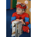Spiderman dropped in for a book.