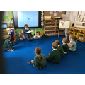 """the star of the day """"reading"""" a story"""