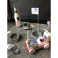 Moon Landing - Mod-roc, wood