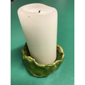 Candle holder - clay