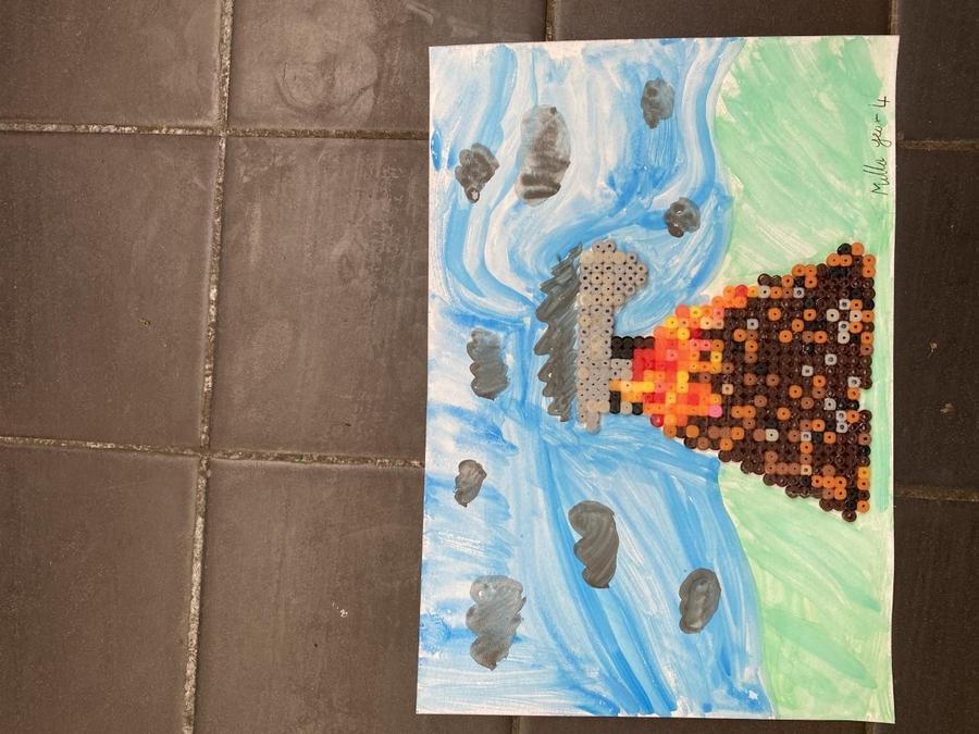 Milla's volcano craftwork