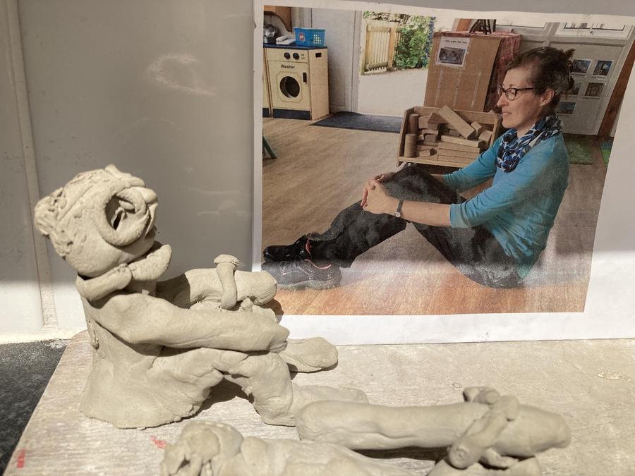 Nursery - clay figure