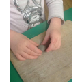 Making beads - clay