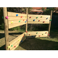 Double-Sided Timber Climbing Wall