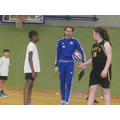 Ola in the tip-off against Greenstead